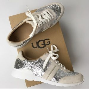 UGG | NEW Glitter Jaida Silver Sparkle Sneakers